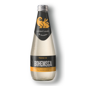 Bohemsca Tonic water lipový květ a bazalka, 330 ml