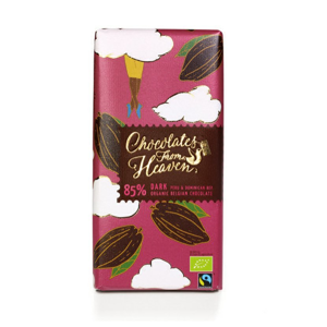 Chocolates from Heaven - BIO hořká čokoláda Peru a Dominikánská republika 85%, 100g