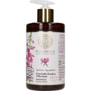 Flora Siberica Posilující objemový šampon s extraktem z vrbovky kamčatské, 480 ml