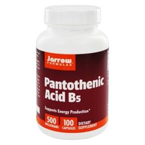 Jarrow Formulas Jarrow Panthoteic Acid B5 (kyselina pantothenová), 500 mg, 100 kapslí