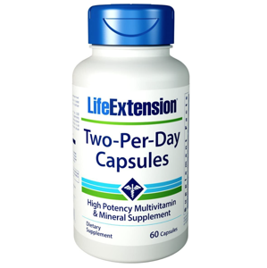 Life Extension Two Per Day multivitamín, 60 kapslí