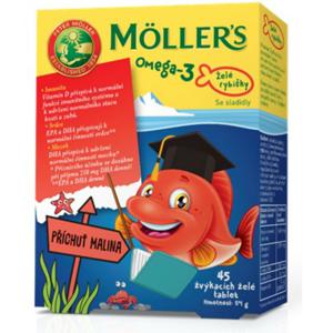 Möller's - Omega 3 Želé rybičky, 45 želé tablet