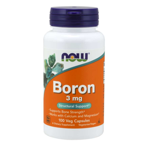 NOW® Foods NOW Boron (bor), 3 mg, 100 kapslí