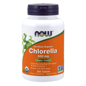 NOW® Foods NOW Chlorella, 500 mg Organic, 200 tablet