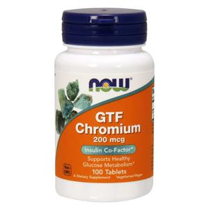 NOW® Foods NOW Chromium GTF, 200 µg, 100 tablet