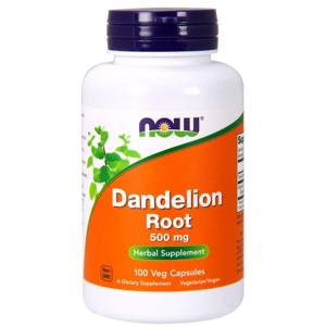 NOW® Foods NOW Dandelion Root (kořen pampelišky), 500 mg, 100 rostlinných kapslí
