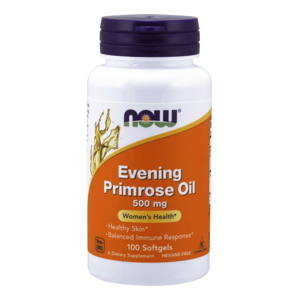 NOW® Foods NOW Evening Primrose Oil (Pupálkový olej), 500 mg, 100 sofgel kapslí
