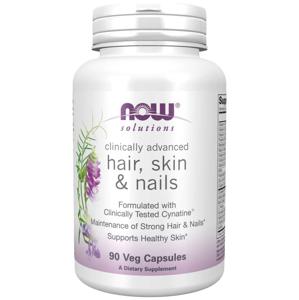 NOW® Foods NOW Hair, Skin & Nails (zdravé vlasy, pleť a nehty), 90 rostlinných kapslí