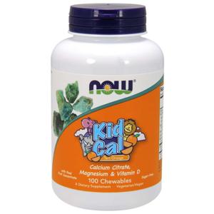 NOW® Foods NOW Kid Cal, Orange, Vápník, Hořčík, Vitamín D pro děti, 100 žvýkacích pastilek