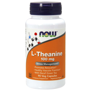 NOW® Foods NOW L-Theanine 100 mg, 90 kapslí