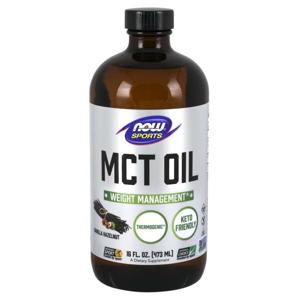 NOW® Foods NOW MCT olej, Vanilla Hazelnut (vanilka, lískový ořech), 473 ml