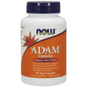 NOW® Foods NOW Multi Vitamins Adam, Men's Superior, 90 rostlinných kapslí