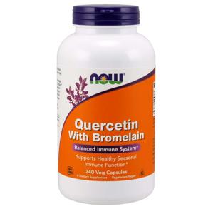 NOW® Foods NOW Quercetin with Bromelain, 240 rostlinných kapslí