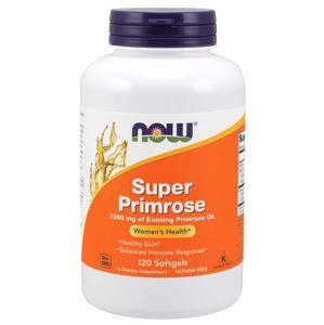 NOW® Foods NOW Super Primrose 1300 mg, Pupalka dvouletá, 120 softgelových kapslí