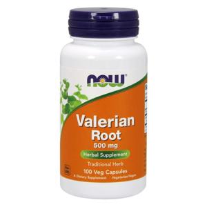 NOW® Foods NOW Valerian Root (kozlík lékařský), 500 mg, 100 rostlinných kapslí