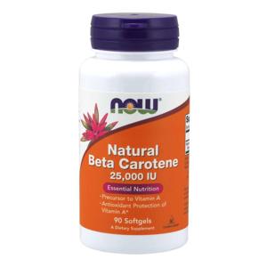 NOW® Foods NOW Vitamin A, Přírodní betakaroten, 25000 IU, 90 softgel kapslí