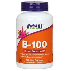 NOW® Foods NOW Vitamin B-100 Complex, 100 rostlinných kapslí