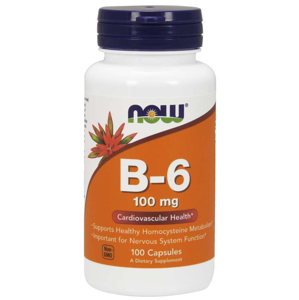 NOW® Foods NOW Vitamin B6 Pyridoxin, 100mg, 100 kapslí