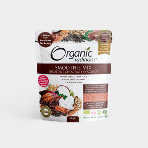 Organic Traditions - Smoothie Mix - Decadent Chocolate Coconut - Bio, 200g