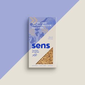 Sens - Bezlepkové proteinové krekry - Černé olivy, 50 g