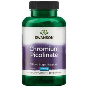 Swanson Chromium Picolinate, 200mcg, 200 kapslí