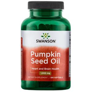 Swanson Pumpkin Seed Oil (Olej z dýňových semínek) 1000 mg, 100 softgelových kapslí