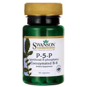 Swanson Vitamin B6 P-5-P, 20 mg, (vitamin B6), 60 kapslí