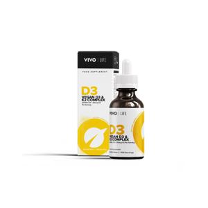 Vivo Life Tekutý Vitamin D3 a K2 jako MK-7 z řas, 100 dávek, 50ml